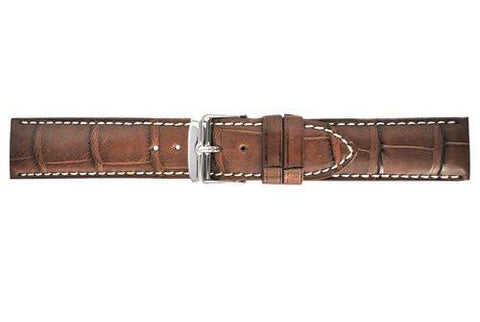 Hadley Roma Chestnut Genuine Alligator Matte Square Grain Strap