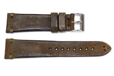 Vintage Handmade Vintage Brown Leather Watch Band