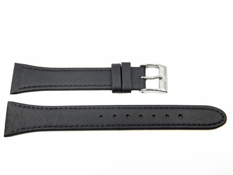 Genuine Skagen Black Leather 20mm Watch Strap - Screws