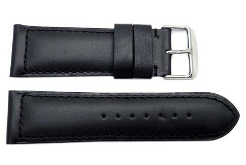 Heavy Padded Smooth Waterproof Leather Watch Strap