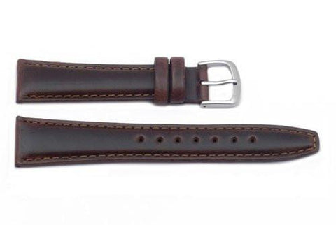 Hadley Roma Light Padded Brown Oil Tan Leather Extra Long Watch Band