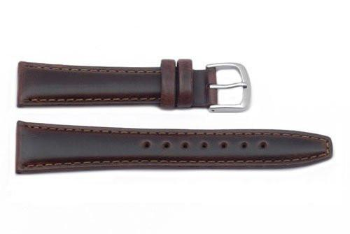 Hadley Roma Light Padded Brown Oil Tan Leather Watch Band