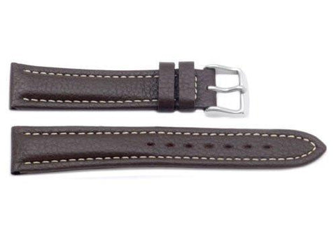 Hadley Roma Brown Breitling Style Heavy Padded Leather Watch Strap