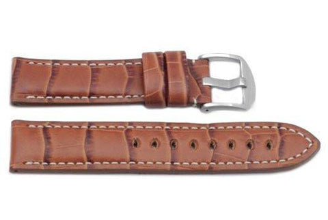 Hadley Roma Genuine Italian Calfskin Panerai Style Tan Watch Band