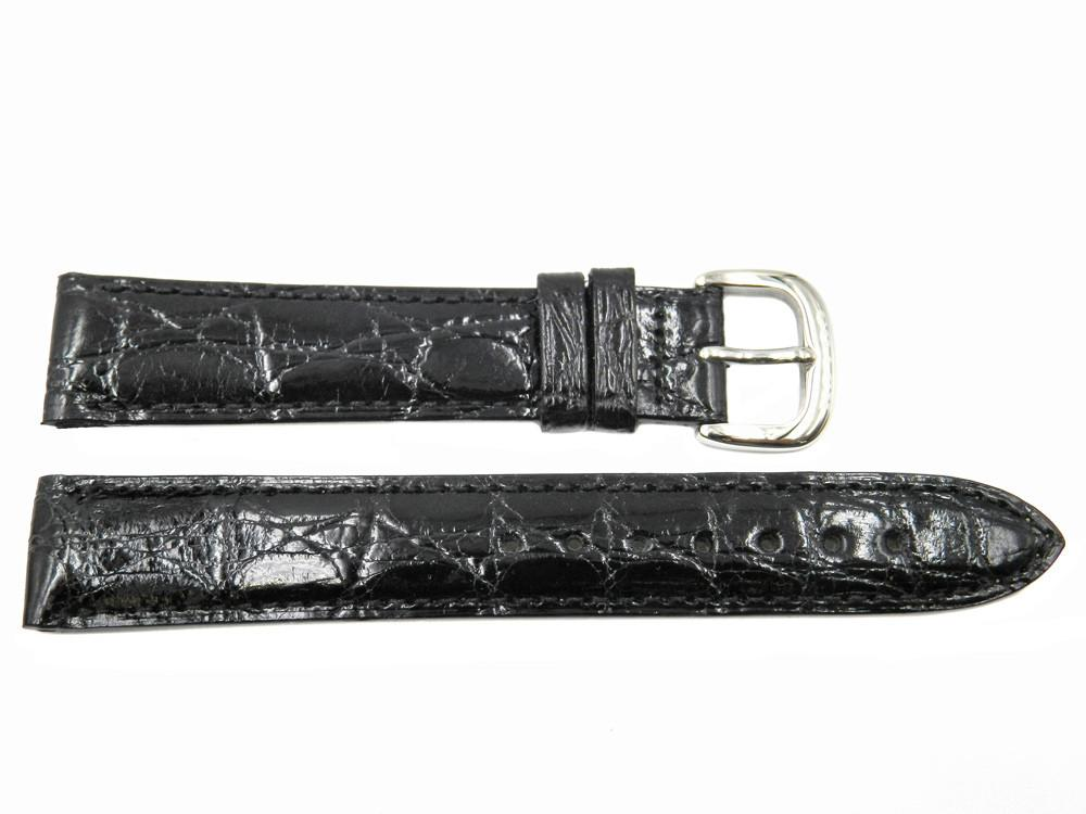 Coach Genuine Crocodile Leather Black 18mm Watch Band