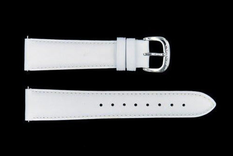 Genuine Coach 19mm White Genuine Smooth Leather Watch Strap