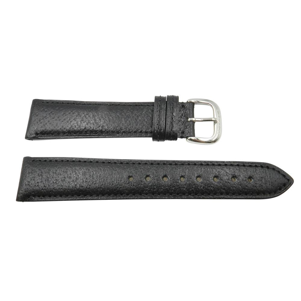 Coach 19mm Black Textured Padded Leather Watch Strap