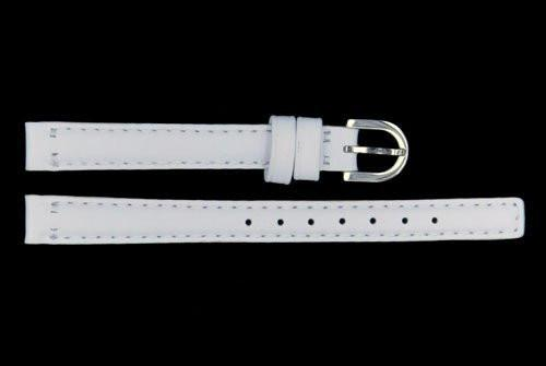 Genuine Coach 10mm White Genuine Smooth Leather Watch Strap