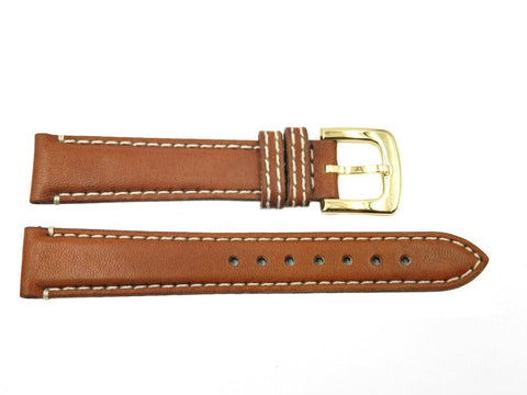 Genuine Coach Brown 16mm Leather Watch Band