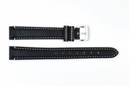 Genuine Coach 14mm Black Genuine Smooth Leather Watch Strap