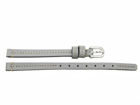 Genuine Coach Gray 7mm Leather Watch Band