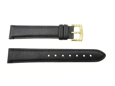 Coach 18mm Black Soft Leather Watch Strap