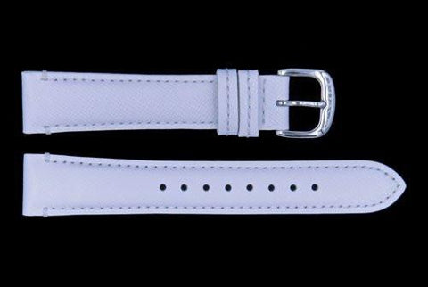Genuine Coach 17mm White Textured Leather Watch Strap
