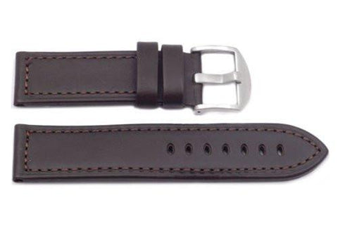 Hadley Roma Panerai Style 22mm Brown Genuine Leather Wide Watch Band