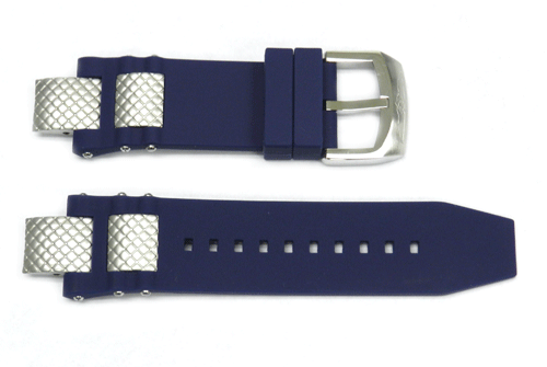Genuine Invicta Subaqua Mens Polyurethane Blue 28mm/16mm Watch Band