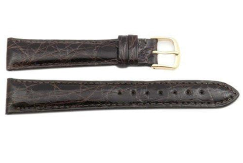 Hadley Roma Cartier Style Genuine Crocodile Brown Leather Watch Strap
