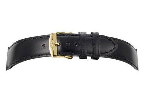 Genuine Calfskin Leather Smooth Semi-Gloss Watch Strap