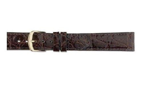 Hadley Roma Chestnut Genuine Crocodile Hypo Allergenic Watch Strap