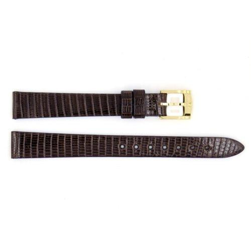 Genuine Movado Lizard Leather 12mm Dark Brown Watch Band