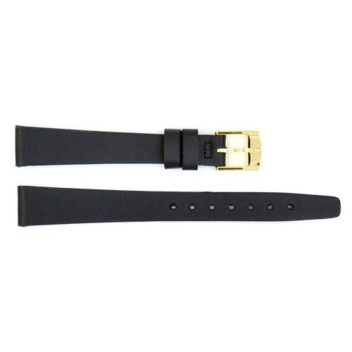 Genuine Movado Black Smooth Leather 13mm Watch Band