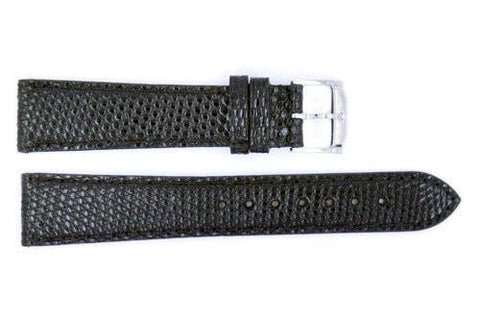Genuine Movado 19mm Black Genuine Lizard Skin Watch Band