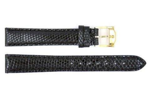 Genuine Movado 14mm Black Genuine Lizard Skin Watch Band