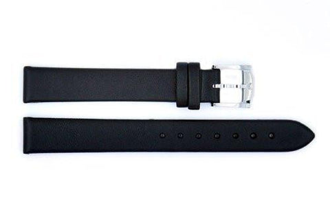 Genuine Movado 13mm Black Genuine Leather Smooth Watch Strap