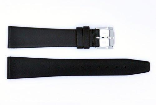 Genuine Movado 18mm Black Smooth Leather Watch Strap