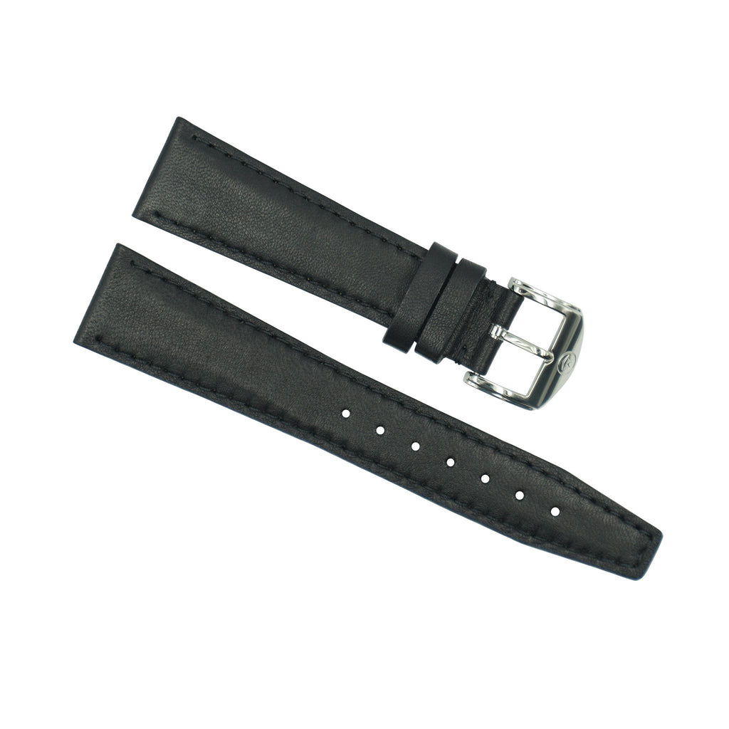 Movado Black Leather 20mm Watch Strap