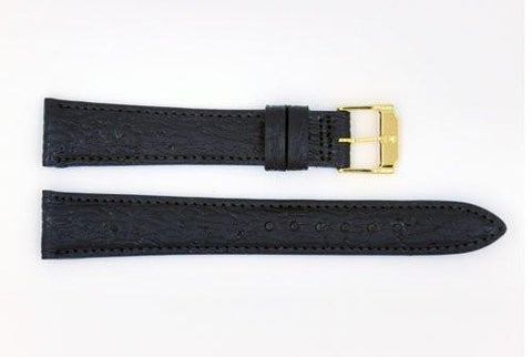 Genuine Movado Shark Skin Leather Black 17mm Watch Band