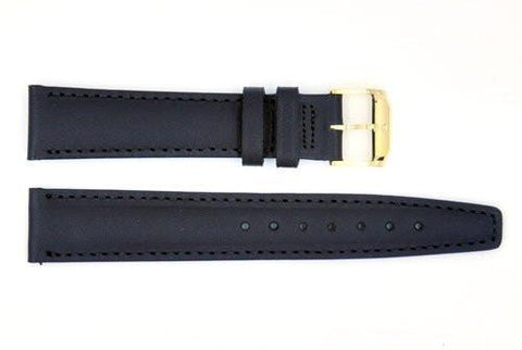 Genuine Movado 18mm Black Genuine Smooth Leather Watch Strap