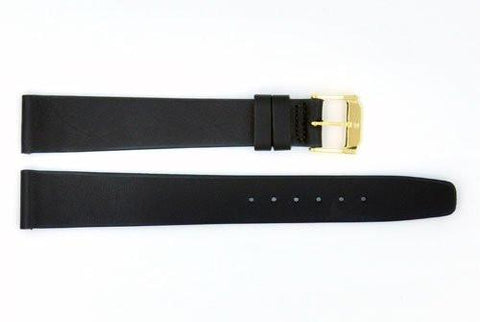Genuine Movado Black Smooth Leather 17mm Long Length Watch Strap