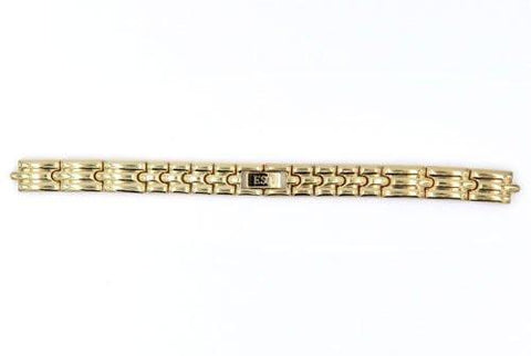 Genuine ESQ Ladies 10mm Gold Tone Polished Watch Bracelet