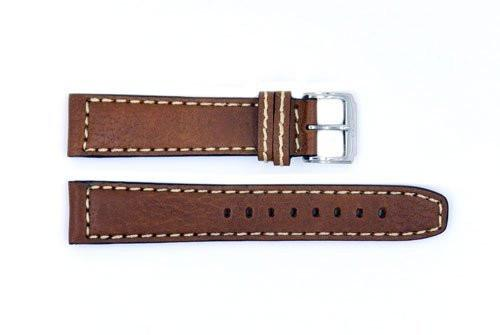 Genuine ESQ Brown Smooth Leather 20mm Watch Strap