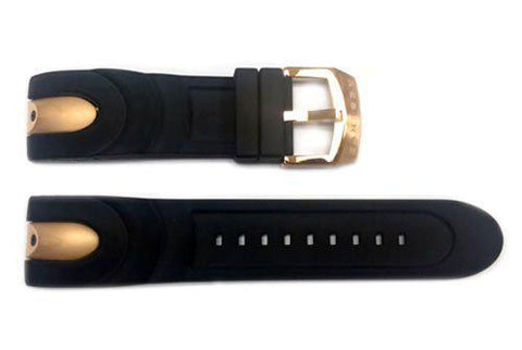 Genuine Invicta Venom Series Mens Polyurethane Replacement Black/Rose Gold 26mm Watch Strap