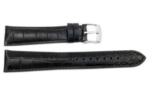 Genuine Textured Leather Alligator Grain Watch Band