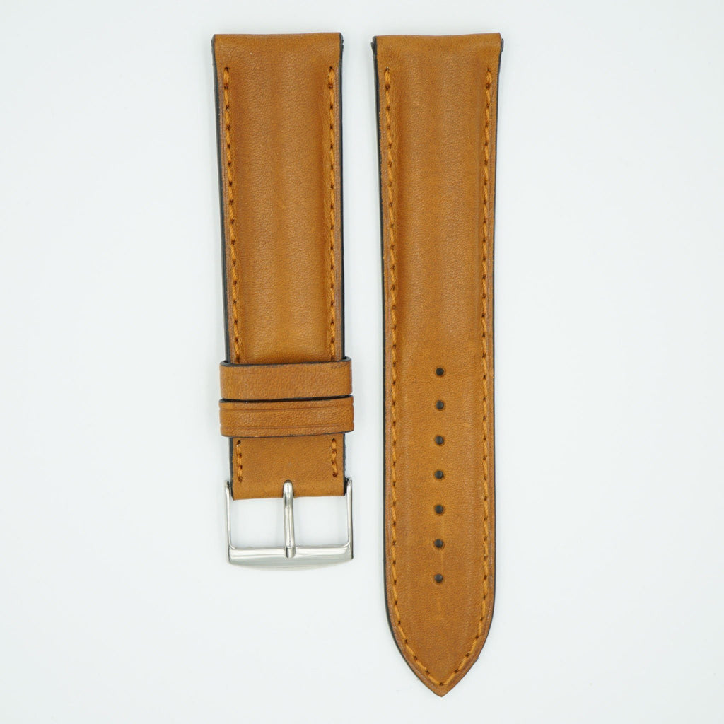 Viena Tan Padded Leather Watch Strap image