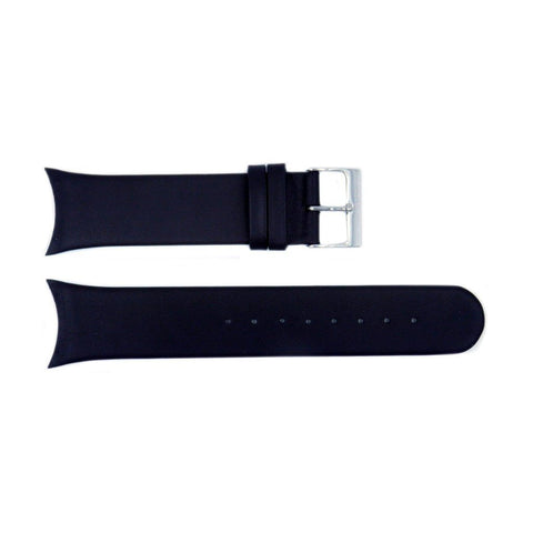 Genuine Skagen Black Smooth Leather 25mm Watch Strap - Screws