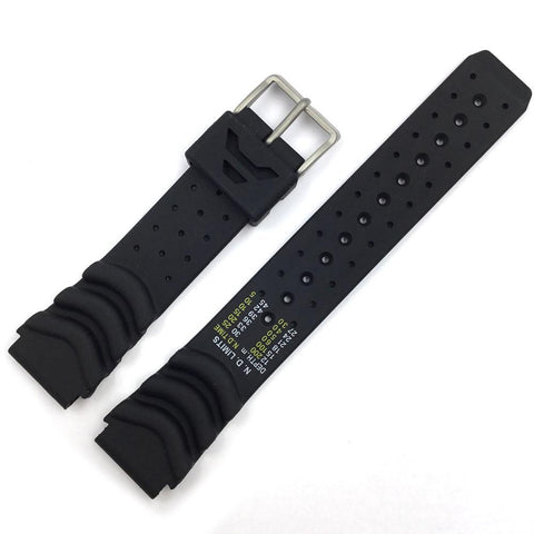 CITIZEN BLACK RUBBER 20MM DIVERS WATCH STRAP