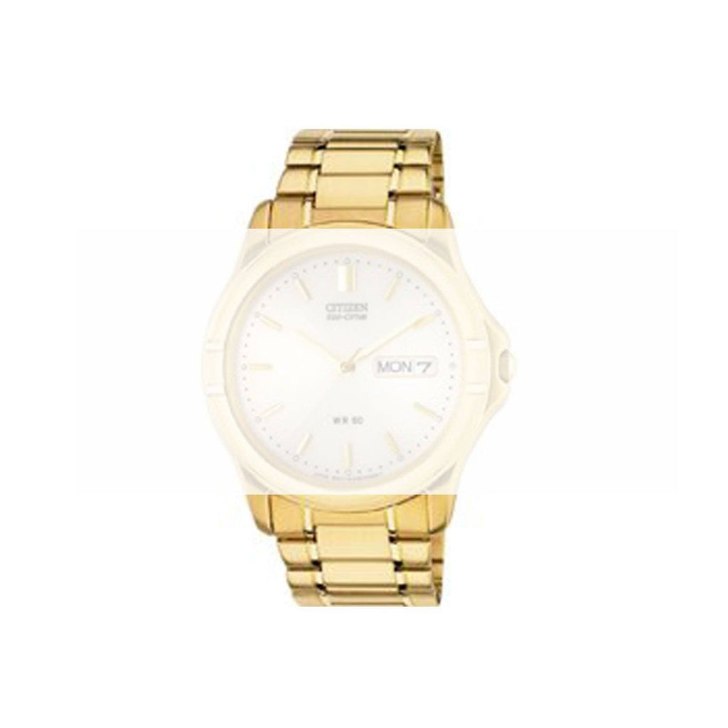 CITIZEN GOLD TONE STAINLESS STEEL BRACELET BM8142 image