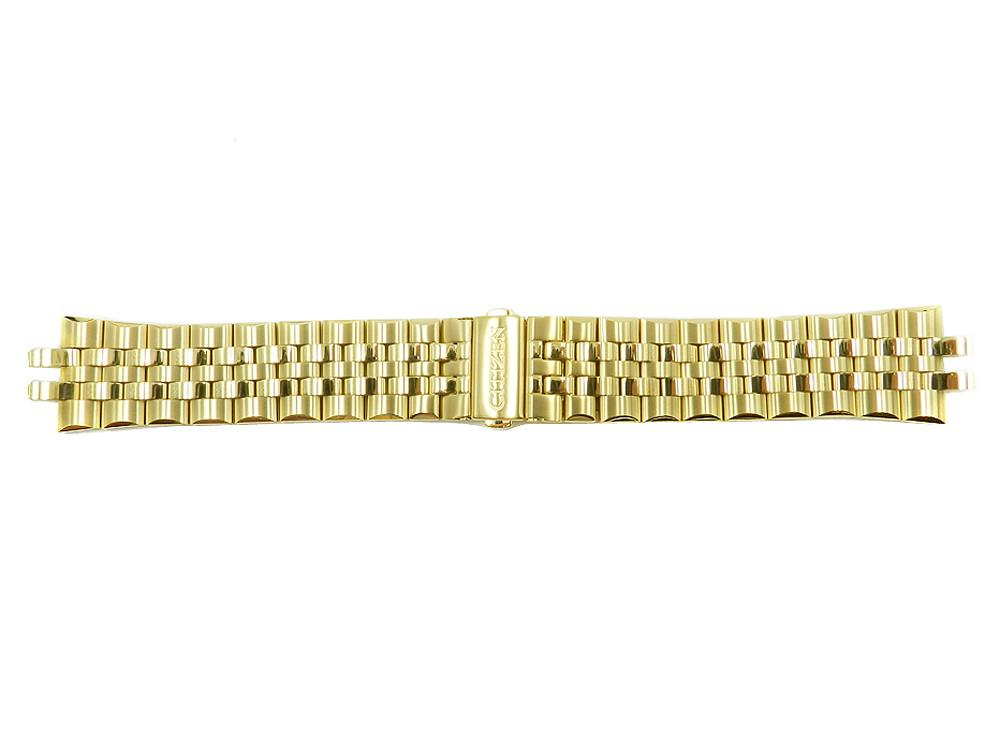 Citizen Corso 22mm Gold Tone Stainless Steel Bracelet Watch Band