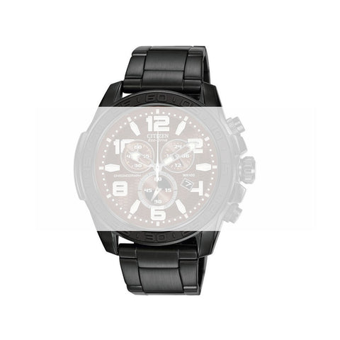 CITIZEN BLACK TONE STAINLESS STEEL BRACELET AT227 image