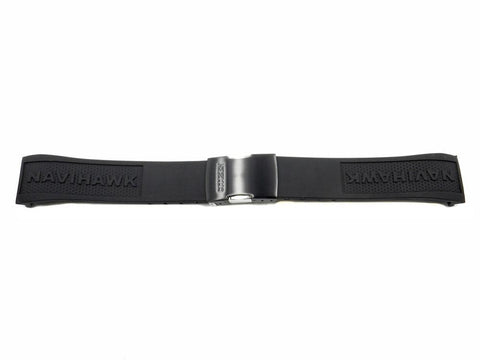 Genuine Citizen Navihawk Black Polyurethane Fold Over Clasp 23mm Watch Strap