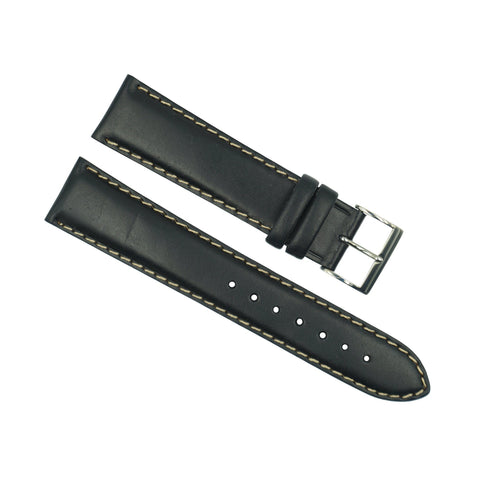 Genuine Citizen Black Leather 20mm Padded Leather Strap