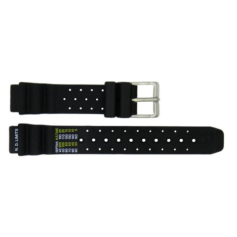 Genuine Citizen Eco Drive Series 15mm Black Rubber Watch Strap