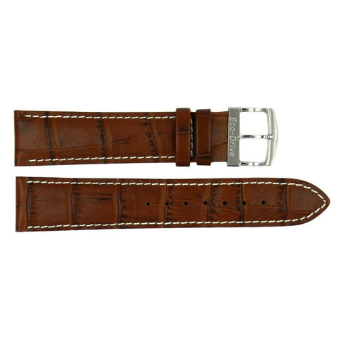 Genuine Citizen Eco-Drive Tan Alligator Grain 20mm Leather Watch Strap
