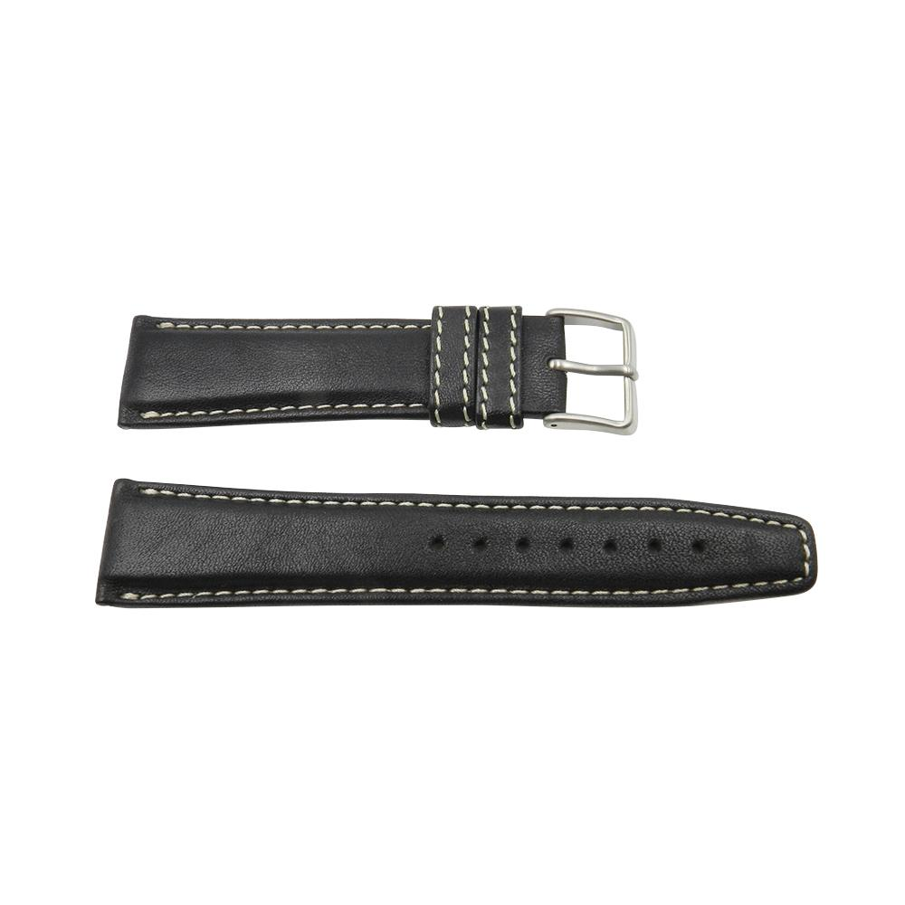 Citizen 21mm Black Padded Leather Watch Band