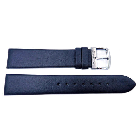 Genuine Citizen Eco-Drive Black Smooth Leather 18mm Watch Strap