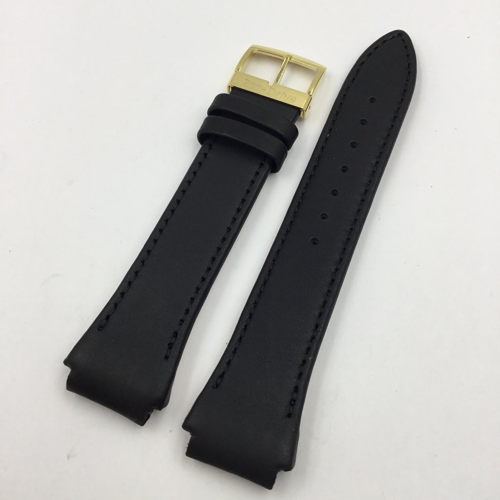 Genuine Citizen Black Leather 24/18mm Eco-Drive Watch Band image