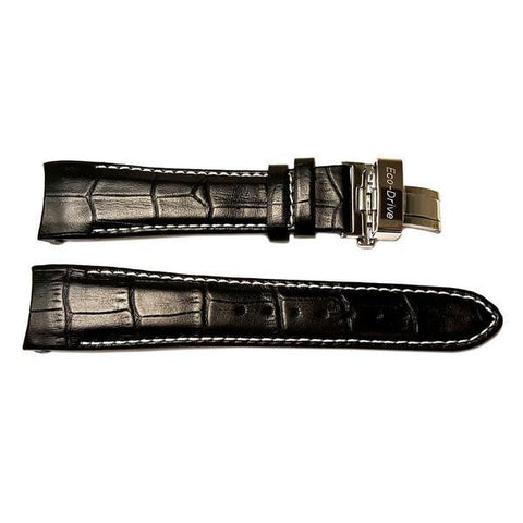 Genuine Citizen Black Leather Alligator Grain Watch Band